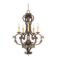 Livex Lighting Seville 5 Light Chandelier in Palacial Bronze with Gilded Accents 8535-64 photo thumbnail