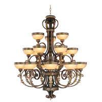 Seville 18 Light 44 inch Palacial Bronze with Gilded Accents Chandelier Ceiling Light