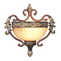 Livex Lighting Seville 1 Light Wall Sconce in Palacial Bronze with Gilded Accents 8540-64