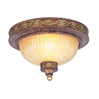 Livex Lighting Seville 2 Light Ceiling Mount in Palacial Bronze with Gilded Accents 8541-64