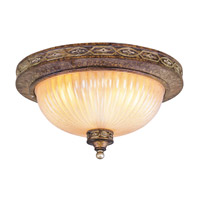 Livex Lighting Seville 2 Light Ceiling Mount in Palacial Bronze with Gilded Accents 8542-64