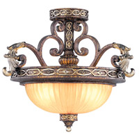 Livex Lighting Seville 2 Light Pendant/Ceiling Mount in Palacial Bronze with Gilded Accents 8544-64 alternative photo thumbnail