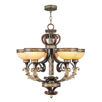 Seville 5 Light 26 inch Palacial Bronze with Gilded Accents Chandelier Ceiling Light