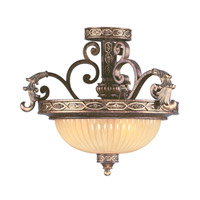 Livex 8547-64 Seville 3 Light 19 inch Palacial Bronze with Gilded Accents Pendant/Ceiling Mount Ceiling Light alternative photo thumbnail