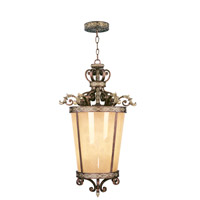 Livex 8549-64 Seville 6 Light 24 inch Palacial Bronze with Gilded Accents Foyer Pendant Ceiling Light