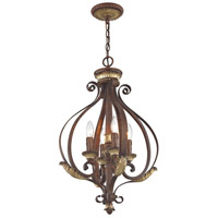 Livex 8556-63 Villa Verona 4 Light 16 inch Verona Bronze with Aged Gold Leaf Accents Foyer Pendant Ceiling Light alternative photo thumbnail