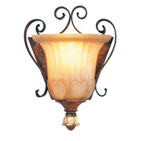 Livex Lighting Villa Verona 1 Light Wall Sconce in Verona Bronze with Aged Gold Leaf Accents 8560-63