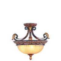 Livex 8565-63 Villa Verona 3 Light 17 inch Verona Bronze with Aged Gold Leaf Accents Pendant/Ceiling Mount Ceiling Light alternative photo thumbnail
