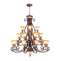 Livex Lighting Villa Verona 22 Light Chandelier in Verona Bronze with Aged Gold Leaf Accents 8569-63