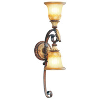 Livex Lighting Villa Verona 2 Light Wall Sconce in Verona Bronze with Aged Gold Leaf Accents 8572-63