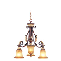 Livex Lighting Villa Verona 3 Light Chandelier in Verona Bronze with Aged Gold Leaf Accents 8573-63
