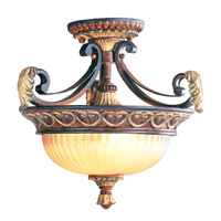 Livex 8577-63 Villa Verona 2 Light 15 inch Verona Bronze with Aged Gold Leaf Accents Pendant/Ceiling Mount Ceiling Light alternative photo thumbnail