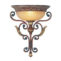 Livex Lighting Villa Verona 1 Light Wall Sconce in Verona Bronze with Aged Gold Leaf Accents 8580-63