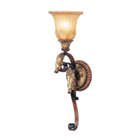 Livex Lighting Villa Verona 1 Light Wall Sconce in Verona Bronze with Aged Gold Leaf Accents 8581-63