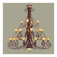 Livex Lighting Villa Verona 24 Light Chandelier in Verona Bronze with Aged Gold Leaf Accents 8588-63