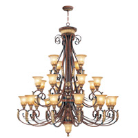 Livex Lighting Villa Verona 24 Light Chandelier in Verona Bronze with Aged Gold Leaf Accents 8589-63