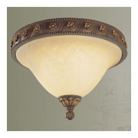 Livex Lighting Sovereign 2 Light Ceiling Mount in Crackled Greek Bronze with Aged Gold Accents 8601-30