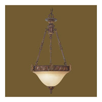 Livex Lighting Sovereign 2 Light Inverted Pendant in Crackled Greek Bronze with Aged Gold Accents 8603-30