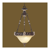 Livex Lighting Sovereign 2 Light Inverted Pendant in Hand Rubbed Bronze with Antique Silver Accents 8603-40