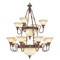 Livex Lighting Sovereign 18 Light Chandelier in Crackled Greek Bronze with Aged Gold Accents 8608-30
