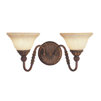 Livex Lighting Sovereign 2 Light Bath Light in Crackled Greek Bronze with Aged Gold Accents 8612-30