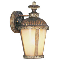 Livex Lighting Seville 1 Light Outdoor Wall Lantern in Palacial Bronze with Gilded Accents 8630-64