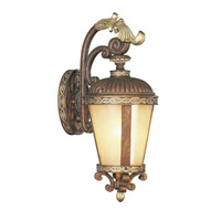 Livex Lighting Seville 1 Light Outdoor Wall Lantern in Palacial Bronze with Gilded Accents 8631-64