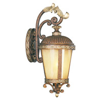 Livex Lighting Seville 1 Light Outdoor Wall Lantern in Palacial Bronze with Gilded Accents 8632-64