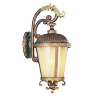 Livex Lighting Seville 1 Light Outdoor Wall Lantern in Palacial Bronze with Gilded Accents 8633-64
