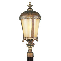 Livex Lighting Seville 1 Light Outdoor Post Head in Palacial Bronze with Gilded Accents 8634-64
