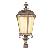 Livex Lighting Seville 1 Light Outdoor Post Head in Palacial Bronze with Gilded Accents 8636-64