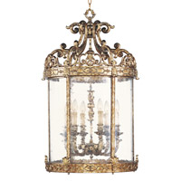 Livex Lighting Chateau 6 Light Foyer Pendant in Vintage Gold Leaf 8646-65