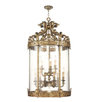 Chateau 9 Light 26 inch Vintage Gold Leaf Foyer Pendant Ceiling Light