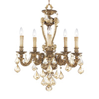 Livex Lighting Chateau 5 Light Chandelier in Vintage Gold Leaf 8655-65