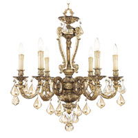 Livex Lighting Chateau 6 Light Chandelier in Vintage Gold Leaf 8656-65