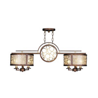 Livex Lighting Avalon 6 Light Billiard/Island in Palacial Bronze with Gilded Accents 8672-64