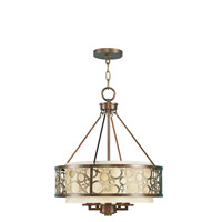Livex Lighting Avalon 5 Light Chandelier in Palacial Bronze with Gilded Accents 8675-64