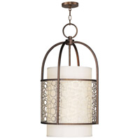 Livex Lighting Avalon 2 Light Foyer Pendant in Palacial Bronze with Gilded Accents 8677-64