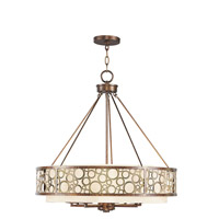 Livex Lighting Avalon 8 Light Chandelier in Palacial Bronze with Gilded Accents 8678-64