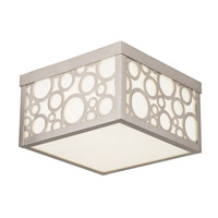 Livex Avalon 2 Light Flush Mount in Brushed Nickel 86792-91