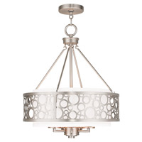 Livex Avalon 5 Light Chandelier in Brushed Nickel 86795-91