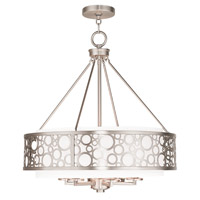 Livex Avalon 6 Light Chandelier in Brushed Nickel 86796-91