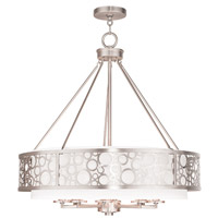 Livex 86798-91 Avalon 8 Light 26 inch Brushed Nickel Chandelier Ceiling Light