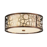 Livex Lighting Avalon 3 Light Ceiling Mount in Palacial Bronze with Gilded Accents 8688-64