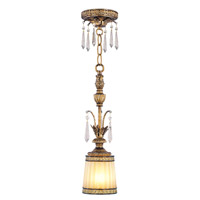 Livex 8800-65 La Bella 1 Light 5 inch Vintage Gold Leaf Mini Pendant Ceiling Light