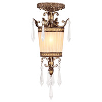 La Bella 1 Light 8 inch Vintage Gold Leaf Mini Pendant Ceiling Light