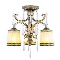 Livex 8804-65 La Bella 3 Light 18 inch Vintage Gold Leaf Ceiling Mount Ceiling Light