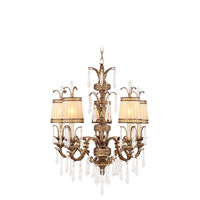 La Bella 5 Light 26 inch Vintage Gold Leaf Chandelier Ceiling Light