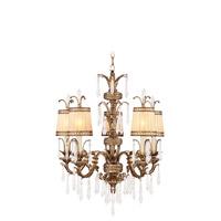 Livex 8805-65 La Bella 5 Light 26 inch Vintage Gold Leaf Chandelier Ceiling Light