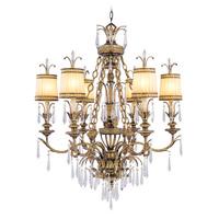 Livex 8806-65 La Bella 6 Light 32 inch Vintage Gold Leaf Chandelier Ceiling Light